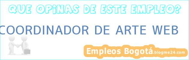 COORDINADOR DE ARTE WEB