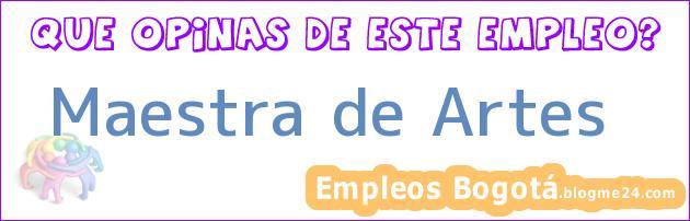 Maestra de Artes