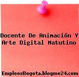 Docente De Animación Y Arte Digital Matutino