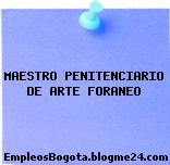 MAESTRO PENITENCIARIO DE ARTE FORANEO