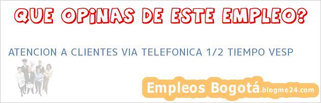 ATENCION A CLIENTES VIA TELEFONICA 1/2 TIEMPO VESP