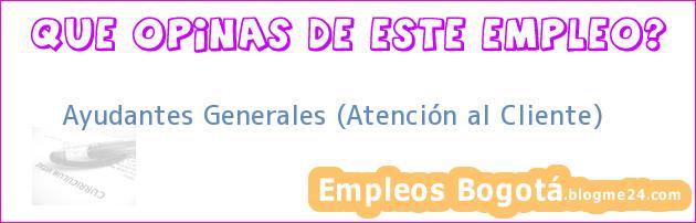 Ayudantes Generales (Atención al Cliente)