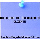 AUXILIAR DE ATENCION A CLIENTE