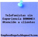 Telefonistas sin Experiencia BANAMEX Atención a clientes