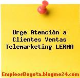 Urge Atención a Clientes Ventas Telemarketing LERMA