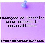 Encargado de Garantias Grupo Automotriz Aguascalientes