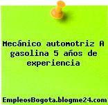 Mecánico automotriz A gasolina 5 años de experiencia
