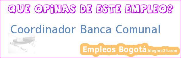 Coordinador Banca Comunal