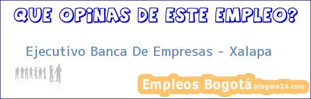 Ejecutivo Banca De Empresas – Xalapa