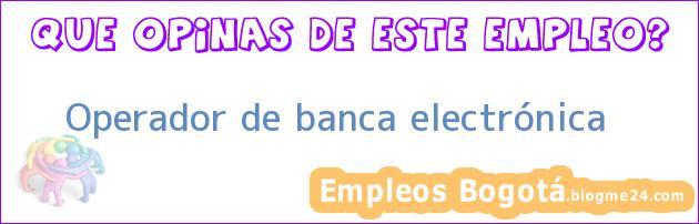 Operador de banca electrónica