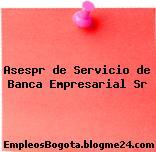 Asespr de Servicio de Banca Empresarial Sr