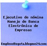 Ejecutivo de nómina Manejo de Banca Electrónica de Empresas