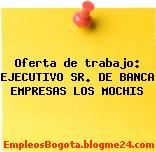 Oferta de trabajo: EJECUTIVO SR. DE BANCA EMPRESAS LOS MOCHIS