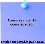 Ciencias de la comunicación