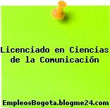 Licenciado en Ciencias de la Comunicación