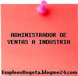 ADMINISTRADOR DE VENTAS A INDUSTRIA