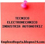 TECNICO ELECTROMECANICO INDUSTRIA AUTOMOTRIZ