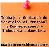 Trabajo : Analista de Servicios al Personal y Compesaciones – Industria automotriz