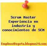 Scrum Master Experiencia en industria y conocimientos de SCM
