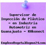 Supervisor de Inyección de Plástico – en Industria Automotriz en Guanajuato – RHkonect