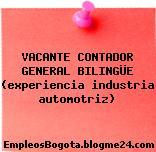 VACANTE CONTADOR GENERAL BILINGÜE (experiencia industria automotriz)