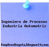 Ingeniero de Procesos Industria Automotriz