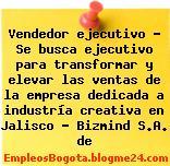Vendedor ejecutivo – Se busca ejecutivo para transformar y elevar las ventas de la empresa dedicada a industría creativa en Jalisco – Bizmind S.A. de