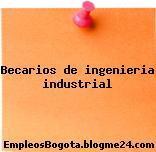 BECARIOS DE INGENIERIA INDUSTRIAL