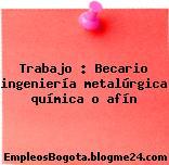 Trabajo : Becario ingeniería metalúrgica química o afín