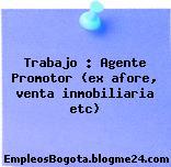 Trabajo : Agente Promotor (ex afore, venta inmobiliaria etc)