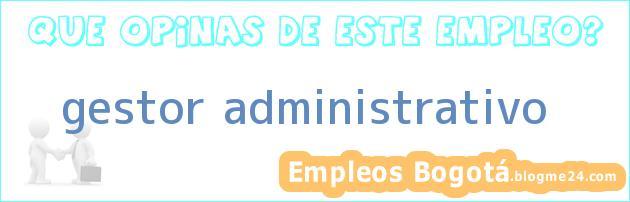 gestor administrativo