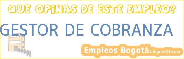 GESTOR DE COBRANZA