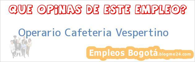 Operario Cafeteria Vespertino