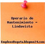 Operario de Mantenimiento Lindavista