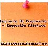 Operario de producción inyección plástico