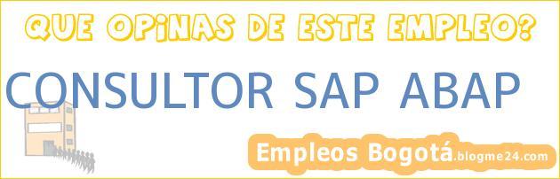 CONSULTOR SAP ABAP