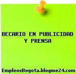 BECARIO EN PUBLICIDAD Y PRENSA