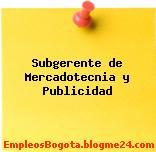 Subgerente de Mercadotecnia y Publicidad