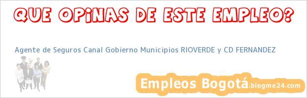 Agente de Seguros Canal Gobierno Municipios RIOVERDE y CD FERNANDEZ