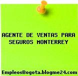 AGENTE DE VENTAS PARA SEGUROS MONTERREY