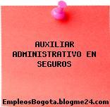 AUXILIAR ADMINISTRATIVO EN SEGUROS