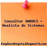 Consultor AMDOCS – Analista de Sistemas