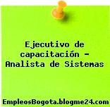 Ejecutivo de capacitación – Analista de Sistemas