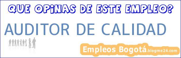 AUDITOR DE CALIDAD