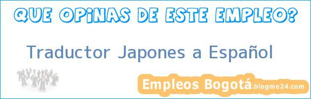 Traductor Japones a Español