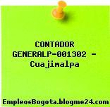 CONTADOR GENERALP-001302 – Cuajimalpa