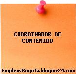 COORDINADOR DE CONTENIDO