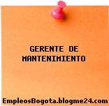 GERENTE DE MANTENIMIENTO