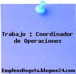 Trabajo : Coordinador de Operaciones