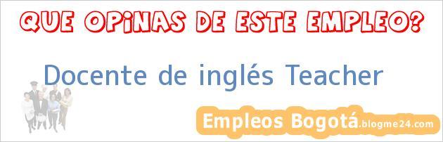 Docente de inglés Teacher